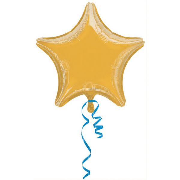 Stern Gold Metallic Folienballon 43 cm