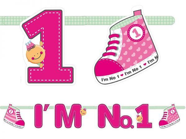 Banner I'm No.1 - 110 cm Pink