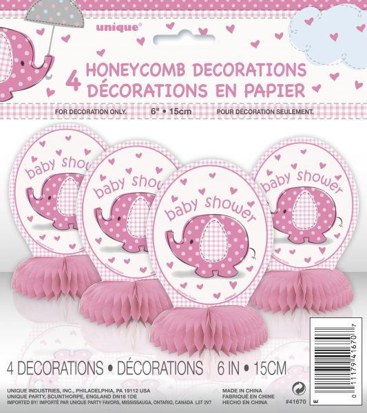 Umbrellaphants Pink 4 Mini Honeycombs