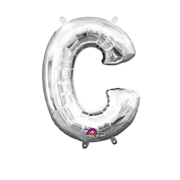 Mini Buchstabe Silber - C Folienballon 22 X 33 cm