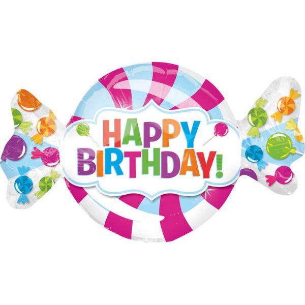 Birthday Bonbon Mini-Folienballon