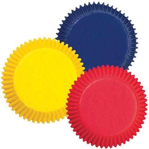 Wilton Muffin Förmchen Rot-Gelb-Blau