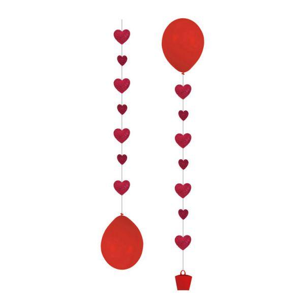 3 Ballon Tails Herz Ballondeko