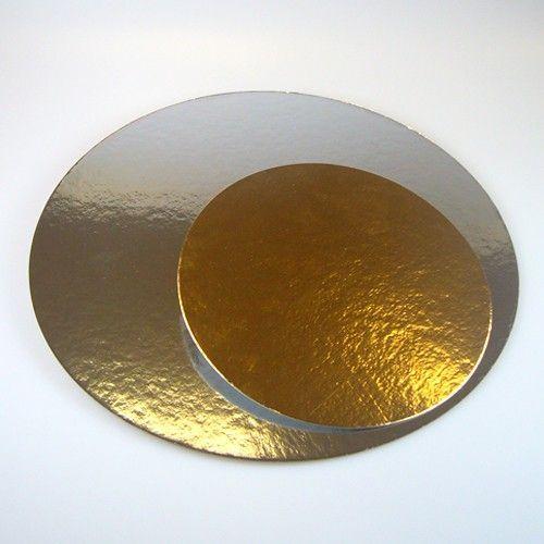 Cake Boards-Silber & Gold-Rund 35 cm/3