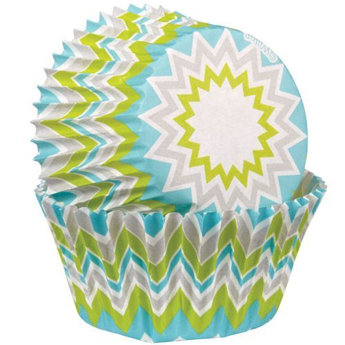 Wilton Muffin Förmchen Chevron Lime