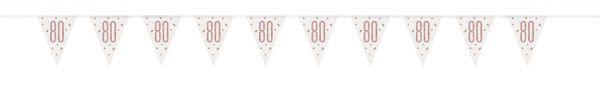 Birthday Glitz Rosegold Wimpelkette 80