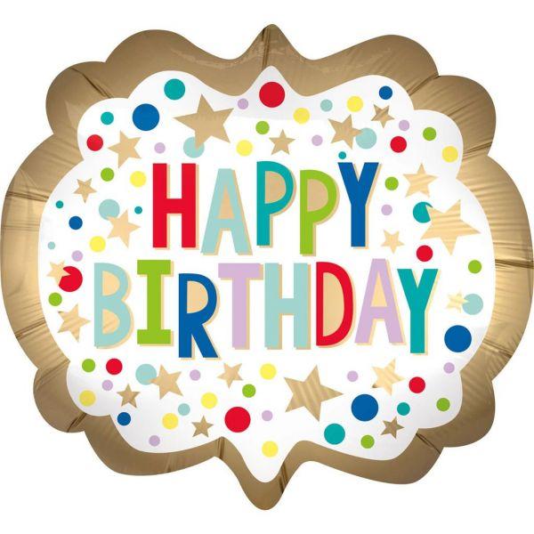 Happy Birthday Dots Folienballon