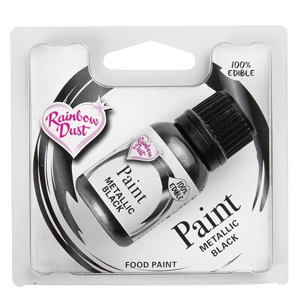 Metallic Food Paint Black