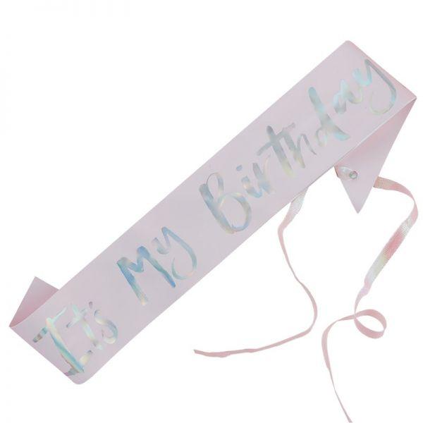 Happy Birthday Sash pink