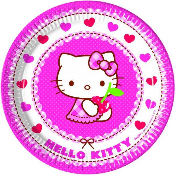 Hello Kitty Hearts Pappteller 23cm