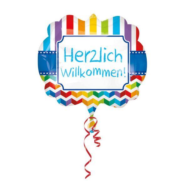 Herzlich Willkommen Folienballon 63 X 55 cm