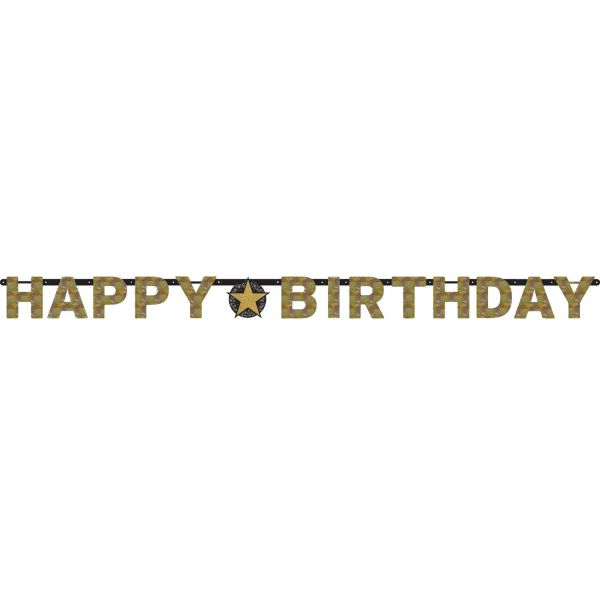 B-Day Banner Gold Sparkling Celebration