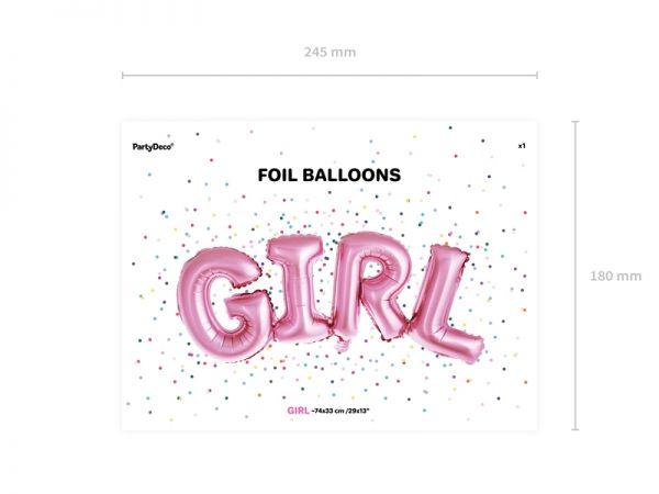 Girl Folienballon Air Filled 74 X 33 cm