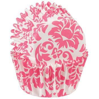 Wilton Mini-Muffin Förmchen Damask Pink