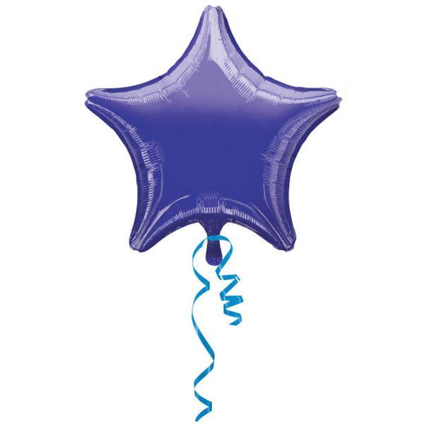 Stern Violett Metallic Folienballon 43 cm
