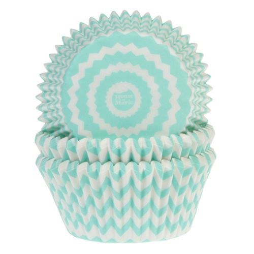 HOM Muffin Förmchen Chevron Mint