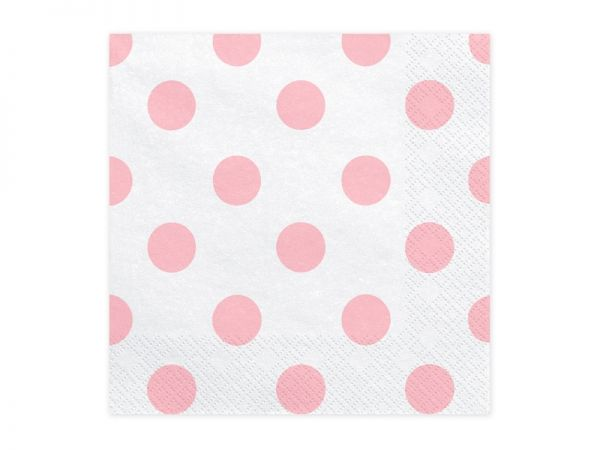 Servietten Dots light pink
