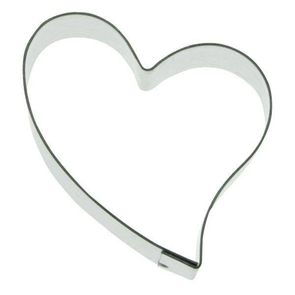 Ausstecher Schiefes Herz 5,5 cm