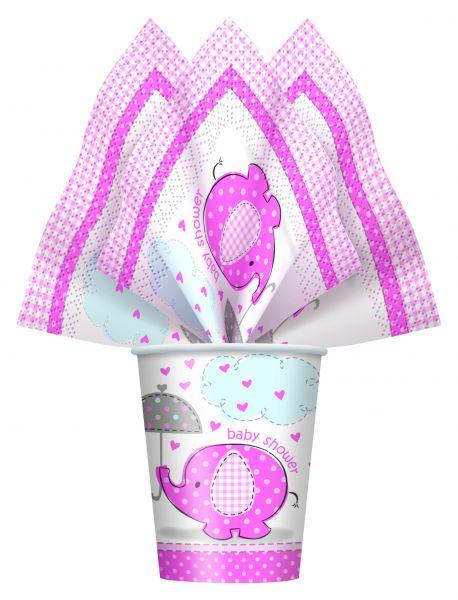 Umbrellaphants Pink Servietten