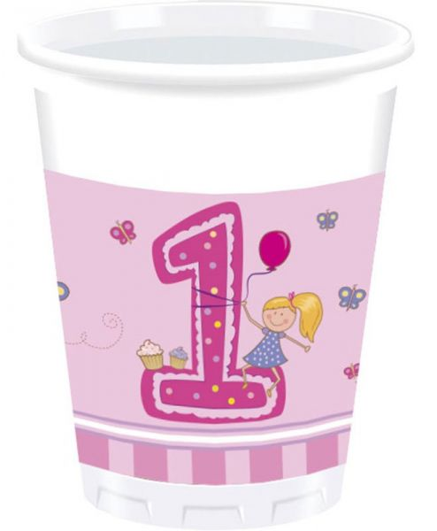 Girls First Birthday, 8 Becher