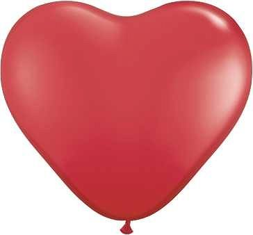Ballon Herzen Pastel Red/6