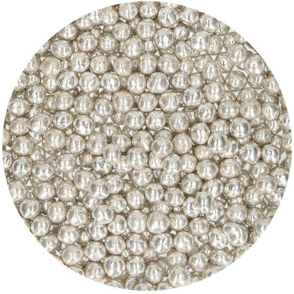 Weiche Perlen Metallic Silver