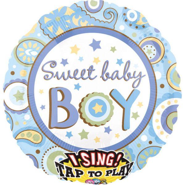 Sing A Tune Baby Boy Folienballon 71 X 71 cm